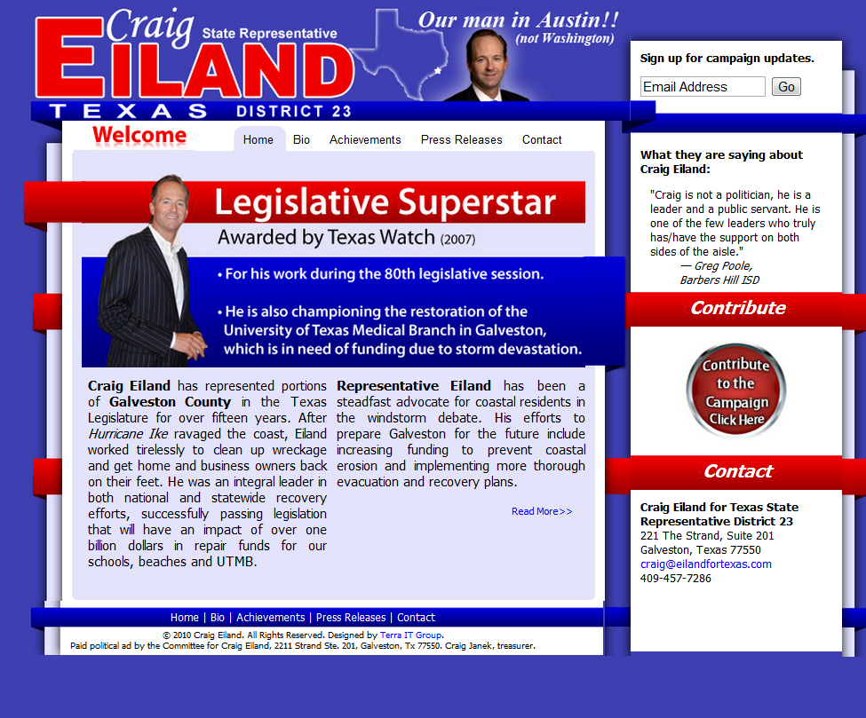 Craig Eiland for Texas State Rep