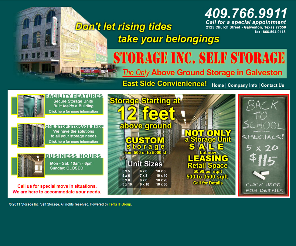 Galveston Storage Inc.