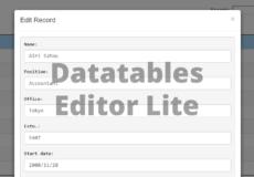 Free Datatables Editor Alternative