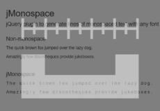 jMonospace